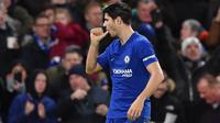 7. Alvaro Morata (Chelsea) - 10 Gol. (AFP/Ben Stansall)