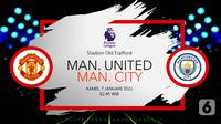 Manchester United vs Manchester City (Liputan6.com/Abdillah)