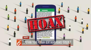 Redaksi Liputan6 SCTV tak pernah memberitakan tentang tanah yang dipakai untuk proyek kereta api cepat Jakarta-Bandung milik RRC.