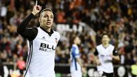 7. Rodrigo Moreno (Valencia) - 15 Gol (1 Penalti). (AFP/Jose Jordan)