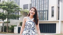 Mengenakan dress dengan model dan motif yang sama. Nastusha terlihat sangat menggemaskan. (Liputan6.com/IG/chelseaoliviaa)