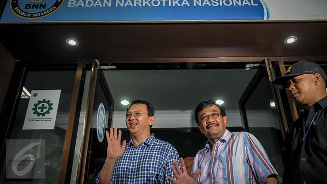 20160925-Tes Narkoba, Ahok-Djarot Tiba di BNN-Jakarta