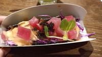 Spicy tuna cheese taco sushi. (Liputan6.com/Dinny Mutiah)