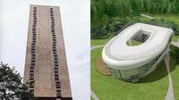 Arsitektur bangunan nyeleneh (Sumber: Facebook/architectureshaming)