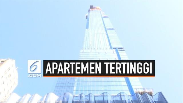 Apartemen setinggi 472 meter akan segera berdiri di kota New York, AS. Apartemen ini bakal menjadi apartemen tertinggi di dunia.