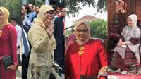 Lihat dan simak tren hijab para istri pejabat yang hadir di pernikahan Kahiyang Ayu dan Bobby Nasution, mana yang terbaik?