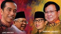 Infografis Headline Jokowi-Ma'ruf Amin Vs Prabowo Subianto-Sandiaga Uno. (Liputan6.com/Triyasni)