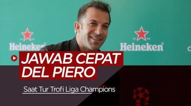 Berita Video Ketika legenda Juventus Del Piero ditanya makanan favoritnya dalam games jawab cepat