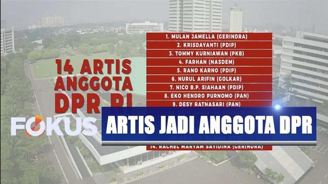 Sebanyak 14 artis lolos jadi anggota DPR RI periode 2019-2024. Siapa saja?