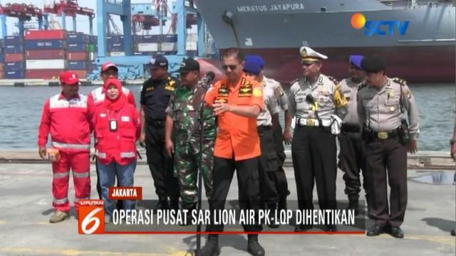 Kabasarnas M Syaugi resmi hentikan operasi pencarian korban Lion Air JT 610.