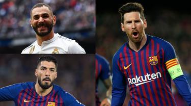 Meski Barcelona sudah memastikan diri keluar sebagai juara La Liga Spanyol, namun sang mega bintang, Lionel Messi tak hentinya mencetak gol. Tambhaan satu gol ke gawang Levante membuat koleksi gol Messi bertambah menjadi 34 gol. (Kolase Foto AFP)