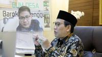 Menteri Desa, Pembangunan Daerah Tertinggal dan Transmigrasi (Mendes PDTT), Abdul Halim Iskandar saat Halal Bihalal secara virtual.