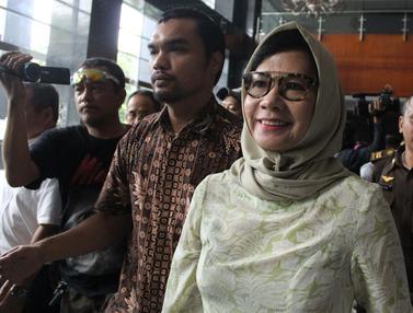 Ekspresi Karen G Agustiawan Usai Sidang Pembacaan Eksepsi