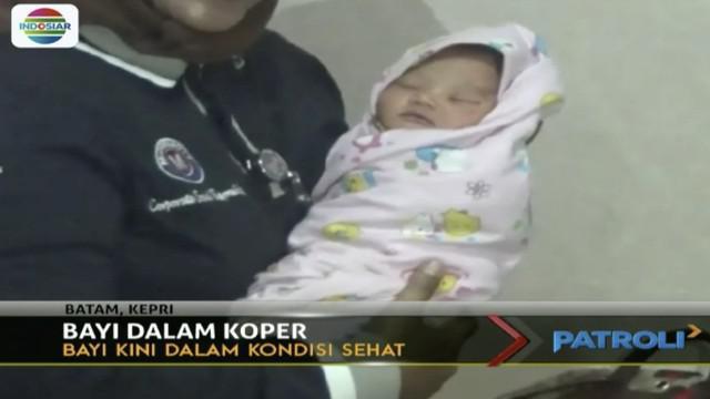 Warga illa Paradis Batu Aji, Kota Batam, Selasa pagi menemukan koper berisi bayi perempuan.