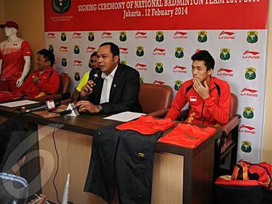 Sekjen PBSI Anton Subowo berharap tim junior yang akan bertarung di Asia Junior Championship bisa tampil lepas dan mampu meraih hasil maksimal (Liputan6.com/Helmi Fithriansyah).