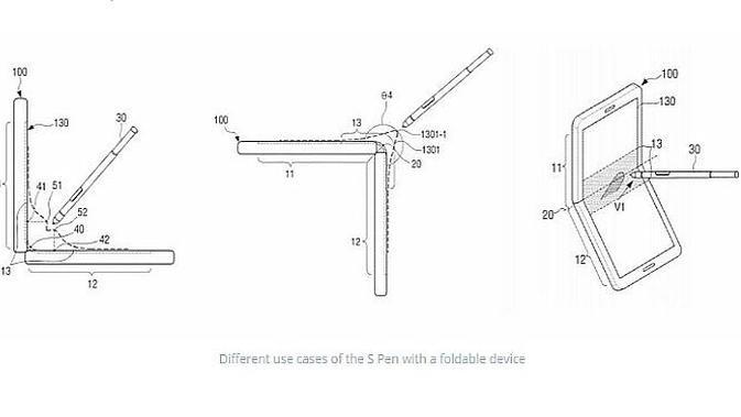 Samsung Lirik Konsep Smartphone Lipat dengan S Pen