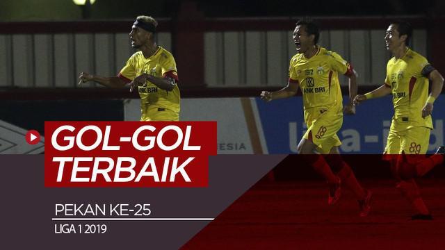Berita video gol-gol terbaik yang tercipta pada pekan ke-25 Shopee Liga 1 2019.