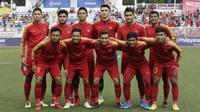 Timnas Indonesia U-22 di SEA Games 2019. (Bola.com/Muhammad Iqbal  Ichsan)
