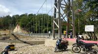 Jembatan Kian Rai Ikun, yang terletak tak jauh dari garis batas antara Indonesia-Timor Leste di Kabupaten Belu, NTT.