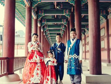 FOTO: Liburan Seru Betrand Peto Ke Korea Bareng Keluarga Ruben Onsu