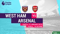 Premier League West Ham United Vs Arsenal (Bola.com/Adreanus Titus)