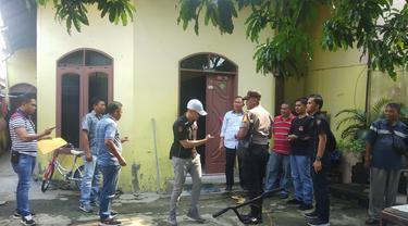 Rumah keluarga penusuk Wiranto di Medan