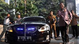 Pertemuan Pansel Calon Pimpinan KPK yang langsung diketuai Menkum HAM Amir Syamsuddin dengan pimpinan KPK berlangsung 2 jam lebih, Selasa (26/8/2014) (Liputan6.com/Miftahul Hayat)