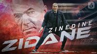 ilusttrasi Zinedine Zidane (Liputan6.com/Abdillah)