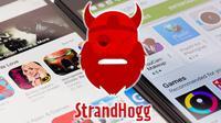 Ilustrasi malware StrandHogg. Dok: medium.com