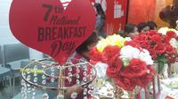Masuki tahun ke tujuh restoran cepat saji in secara konsisten kampanyekan National Breakfast Day 2019 (dok.Liputan6.com/Adinda Kurnia)