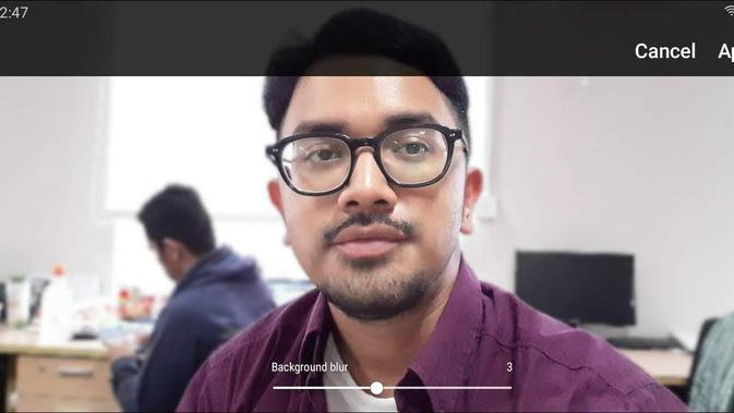 Screenshot Live Focus Galaxy A20 (Foto: Liputan6.com)