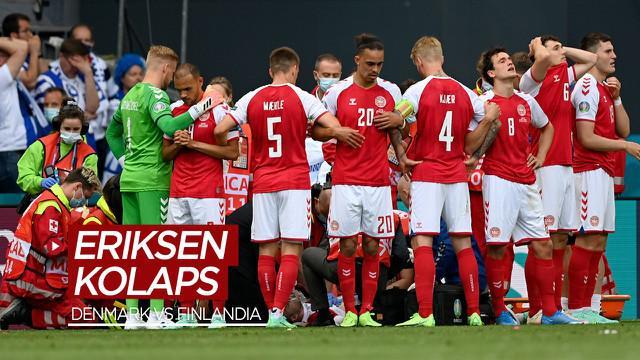 Berita video Christian Eriksen tiba-tiba kolaps dalam pertandingan Grup B Euro 2020 antara Denmark melawan Finlandia, Sabtu (12/6/2021) malam hari WIB.