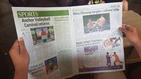 Media lokal Khmer Times sama sekali tidak memberitakan laga terakhir penyisihan Grup B Piala AFF 2019 antara Timnas Indonesia U-22 Vs Kamboja. (Bola.com/Zulfirdaus Harahap)