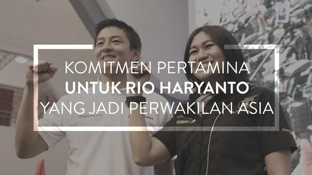 Video Pertamina yang terus berkomitmen untuk pebalap cadangan Manor Racing, Rio Haryanto, yang dianggap juga perwakilan asia di Formula 1.