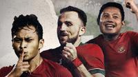 Osvaldo Haay, Ilija Spasojevic dan Evan Dimas. (Bola.com/Dody Iryawan)