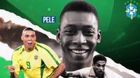 GOAT of Brazil: Pele, Ronaldo Nazario, Garrincha (Bola.com/Adreanus Titus)