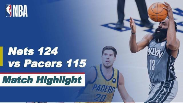 Berita video highlights kemenangan Brooklyn Nets atas Indiana Pacers 124-115 dalam laga musim regulers NBA 2020/2021, di mana James Harden menorehkan triple-double dalam pertandingan tersebut, Kamis (18/3/2021) pagi hari WIB.