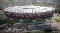 Polandia berencana membuka rumah sakit sementara untuk pasien COVID-19 di National Stadium, di Warsawa, Polandia. (AP Photo/Czarek Sokolowski, File)
