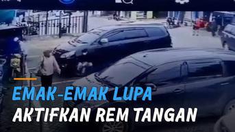 VIDEO: Emak-Emak Lupa Aktifkan Rem Tangan, Mobil Parkir Meluncur Sendiri