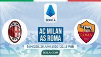 Serie A: AC Milan vs AS Roma. (Bola.com/Dody Iryawan)