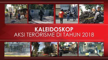 Serangkaian aksi teror terjadi di beberapa lokasi di tanah air.