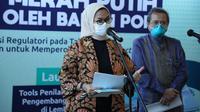 """Kepala BPOM Penny K Lukito menjelaskan perkembangan Vaksin Nusantara di sela acara """"Workshop Pengawalan Vaksin Merah Putih"""" di Jakarta, Selasa (13/4/2021). (Dok BPOM RI)"""