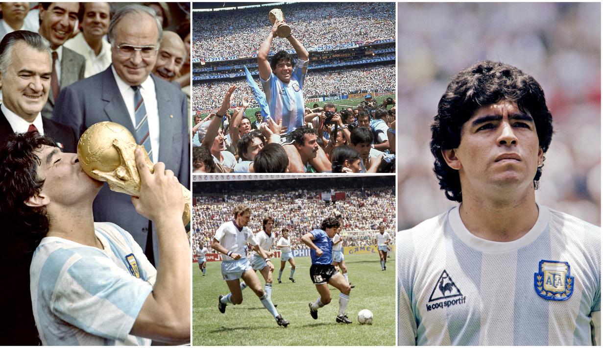 """Trofi Piala Dunia Argentina pada 1986 mempunyai kesan mendalam dan tak terlupakan bagi para pecinta sepak bola Argentina dan juga dunia. Selain sukses meraih gelar juara, Diego Maradona juga membuat gol bersejarah yang dikenal dengan """"Gol Tangan Tuhan""""."""