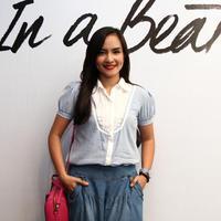 Intan Nuraini di acara launching In a Beat, Graha Intiland, Sudirman, Jakarta Pusat, Sabtu (2/5) (via istimewa)