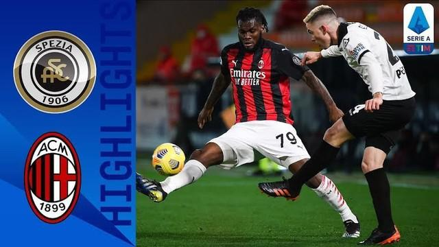 Berita video highlights laga pekan ke-22 Liga Italia 2020/2021 antara Spezia melawan AC Milan yang berakhir dengan skor 2-0, Minggu (14/2/2021) dinihari WIB.