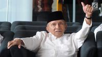 Ketua Dewan Kehormatan Partai Amanat Nasional (PAN) Amien Rais mendatangi Gedung KPK, Jakarta, Senin (29/10). Amien akan menemui Pimpinan KPK Agus Rahardjo. (Merdeka.com/Dwi Narwoko)