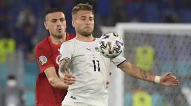 Foto Piala Eropa: Duet Maut Immobile-Insigne, Italia Gulung Turki di Pertandingan Pembuka Euro 2020