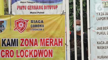 57 Warga Positif COVID-19, Perumahan di Gandasari Tangerang Lockdown