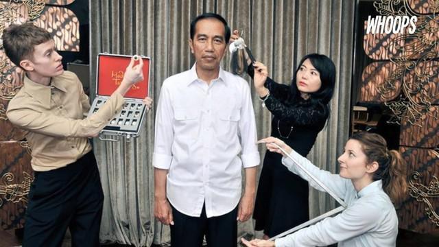 Pengukuran postur telah dilakukan pada Oktober 2016. Hal ini untuk mencari detail terbaik bentuk tubuh Jokowi.