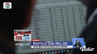 KPU telah selesai merekapitulasi suara Pemilu 2019 di Bali, Bangka Belitung, Kalimantan Utara, Kalimantan Tengah, Kalimantan Selatan, Kalimantan Barat, Gorontalo, dan Bengkulu.